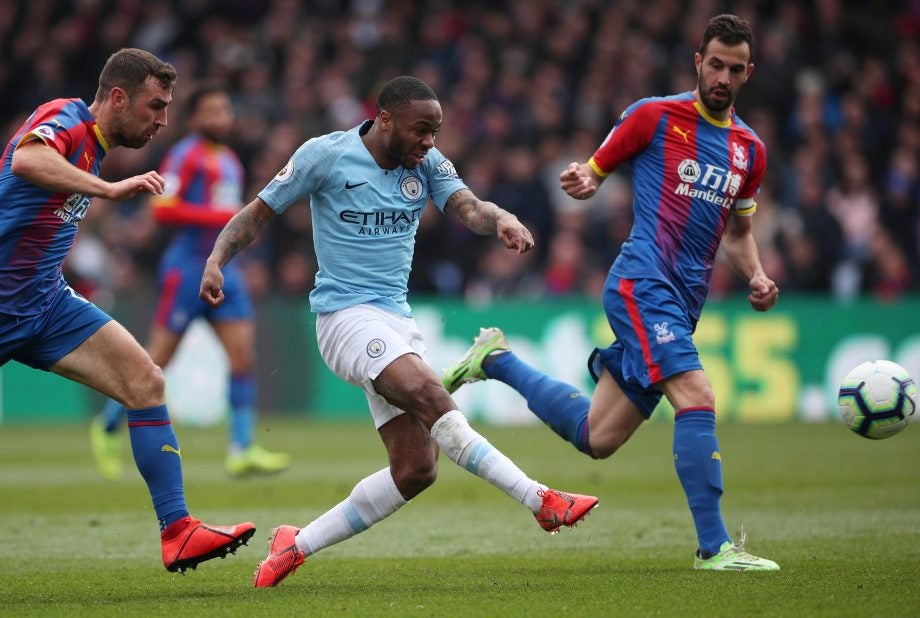 Raheem Sterling -- Image credit: Crystal Palace on Twitter / @CPFC