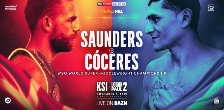 Saunders vs Coceres - Image credit: Matchroom Boxing on Twitter/@MatchroomBoxing