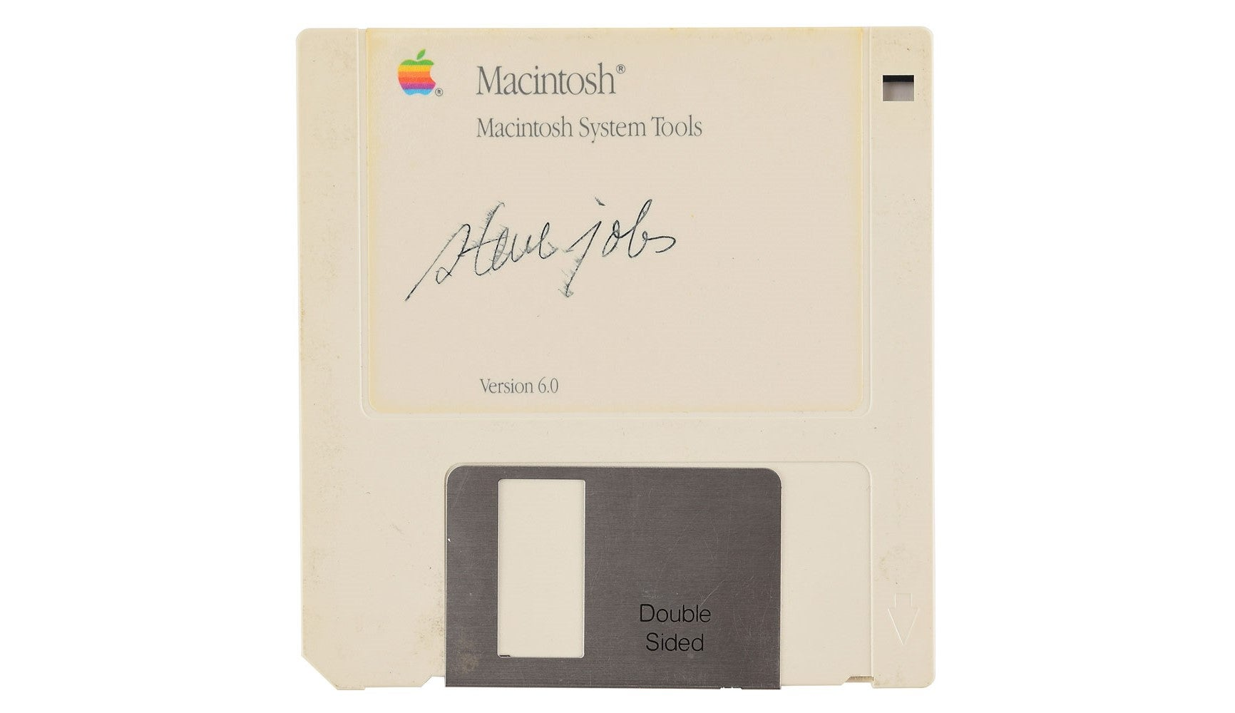 A floppy disk signed by Steve Jobs is currently selling for $8000