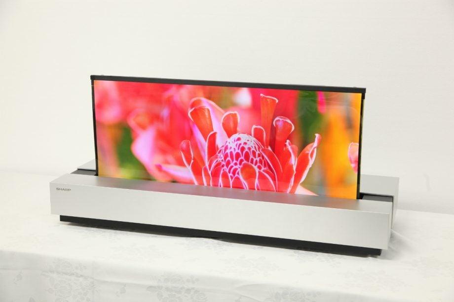 sharp rollable tv