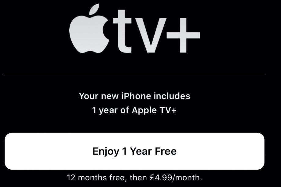 iphone 11 and apple tv free