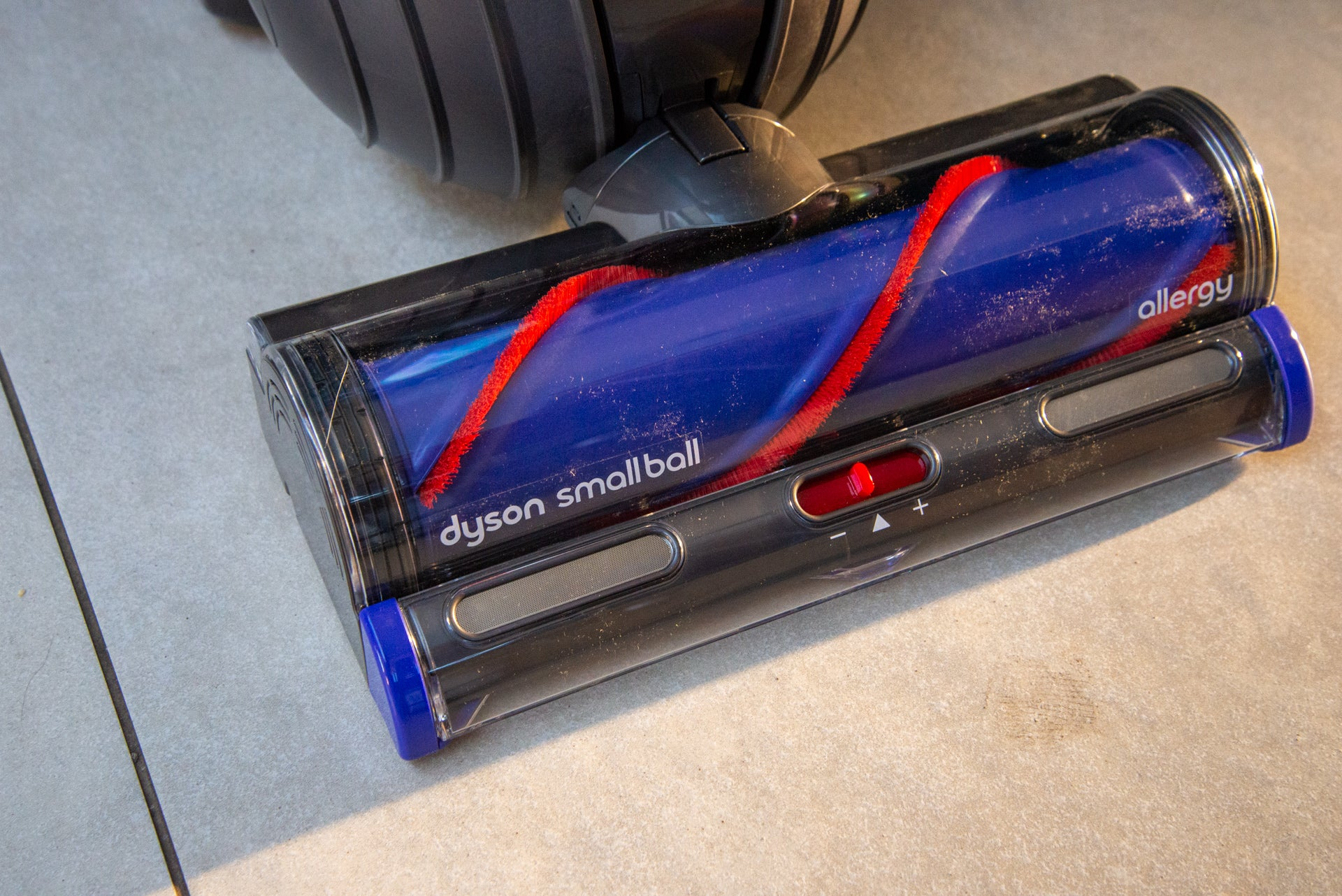 Dyson Small Ball Allergy floor brush attached
