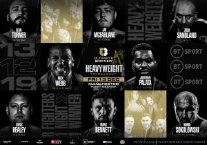 Ultimate Boxxer Heavyweight lineup