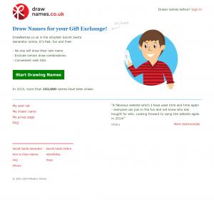 DrawNames homepage