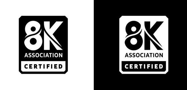 8k association certified logo