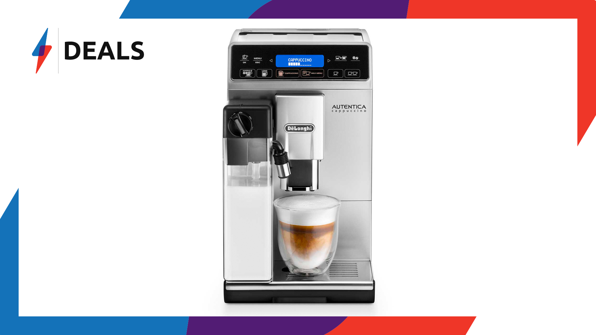 Beat the winter cold with over £100 off this De'Longhi Bean to Cup Coffee Machine
