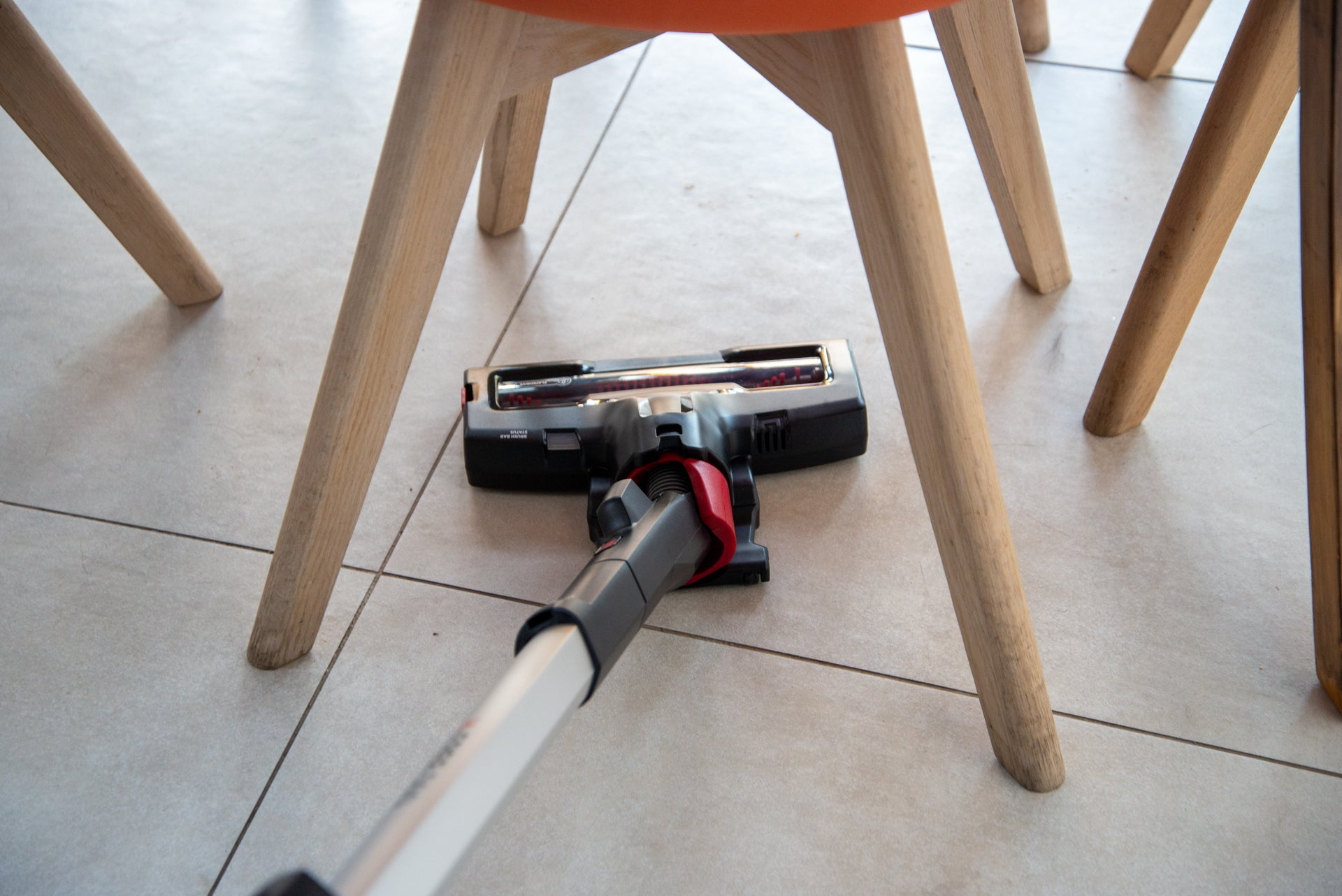 Hoover H-Free 500 under chair