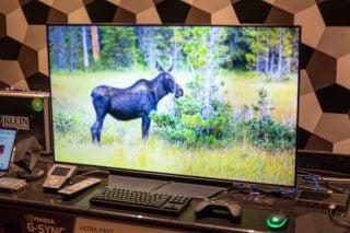 LG CX 48-inch OLED (OLED48CXPUA) desk