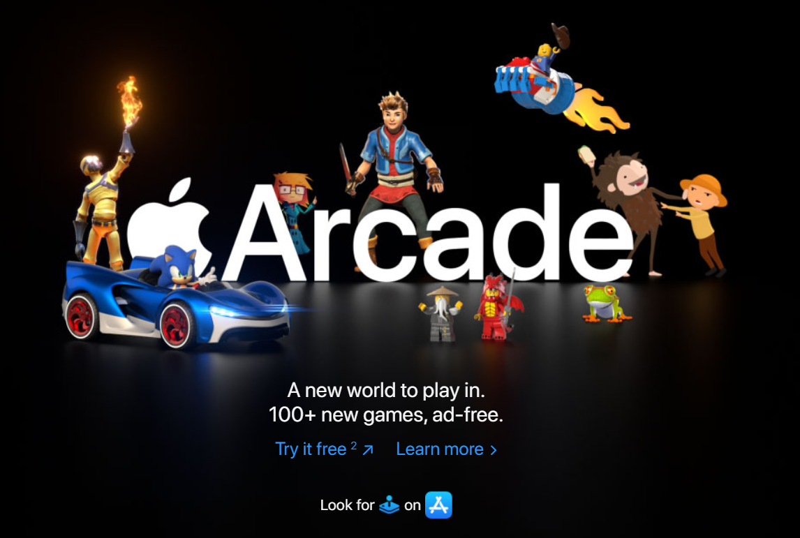 Sonic, Pac-Man, and other Apple Arcade characters have taken over Apple's website