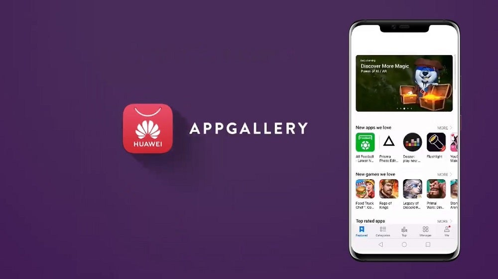 What is Huawei Mobile Services? Pictured - Huawei app gallery