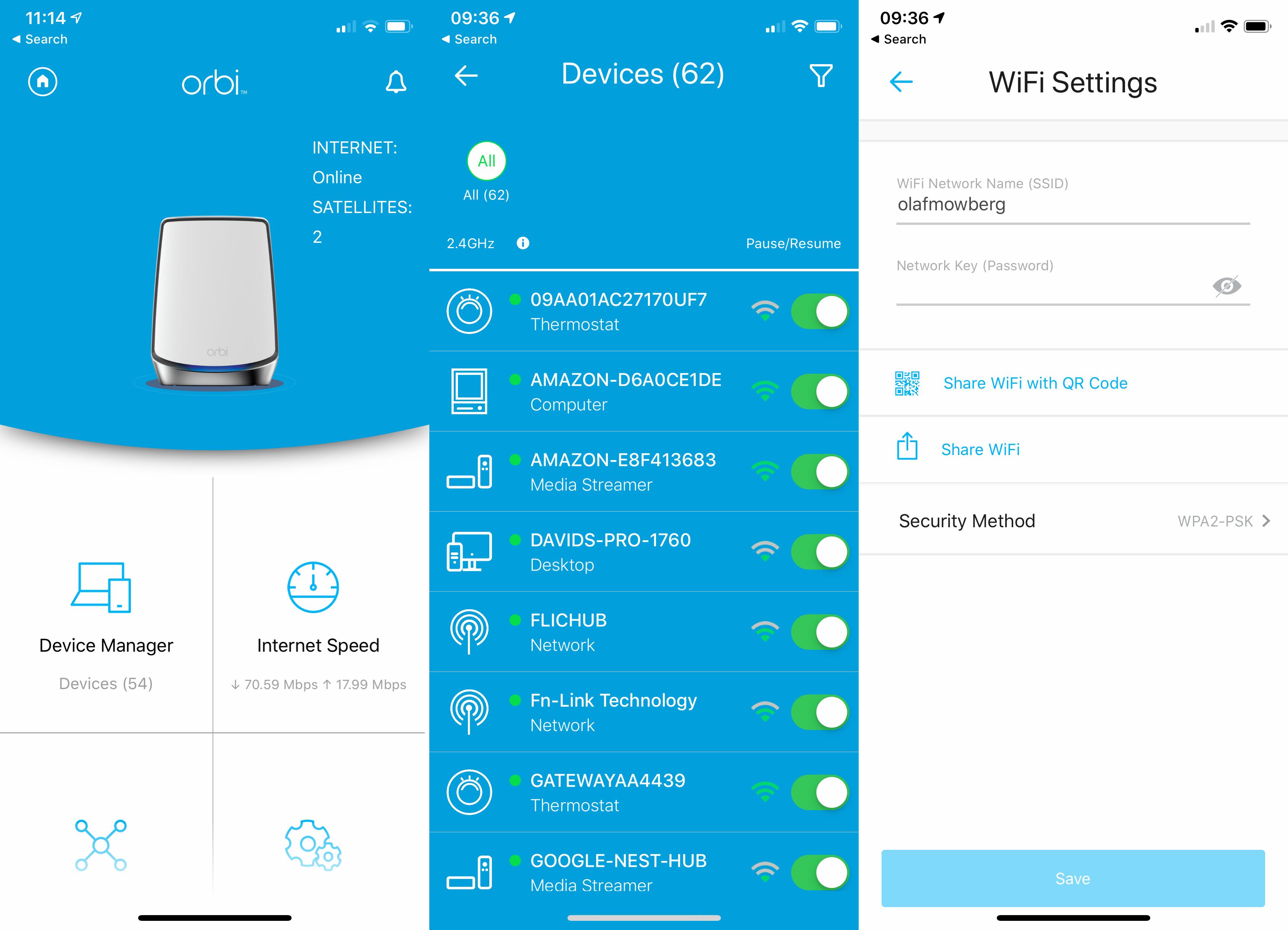 Netgear Orbi WiFi 6 app