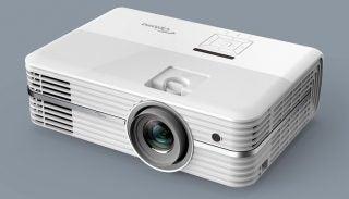 The Optoma UHD52ALV projector.