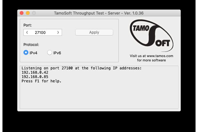 Tamosoft Throughput Server