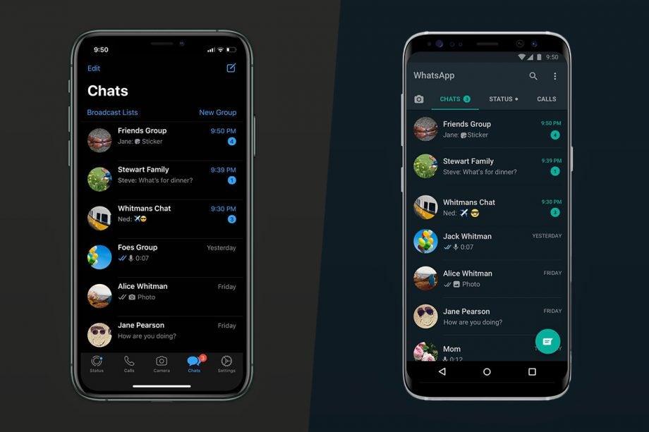 Whatsapp Dark mode ios android