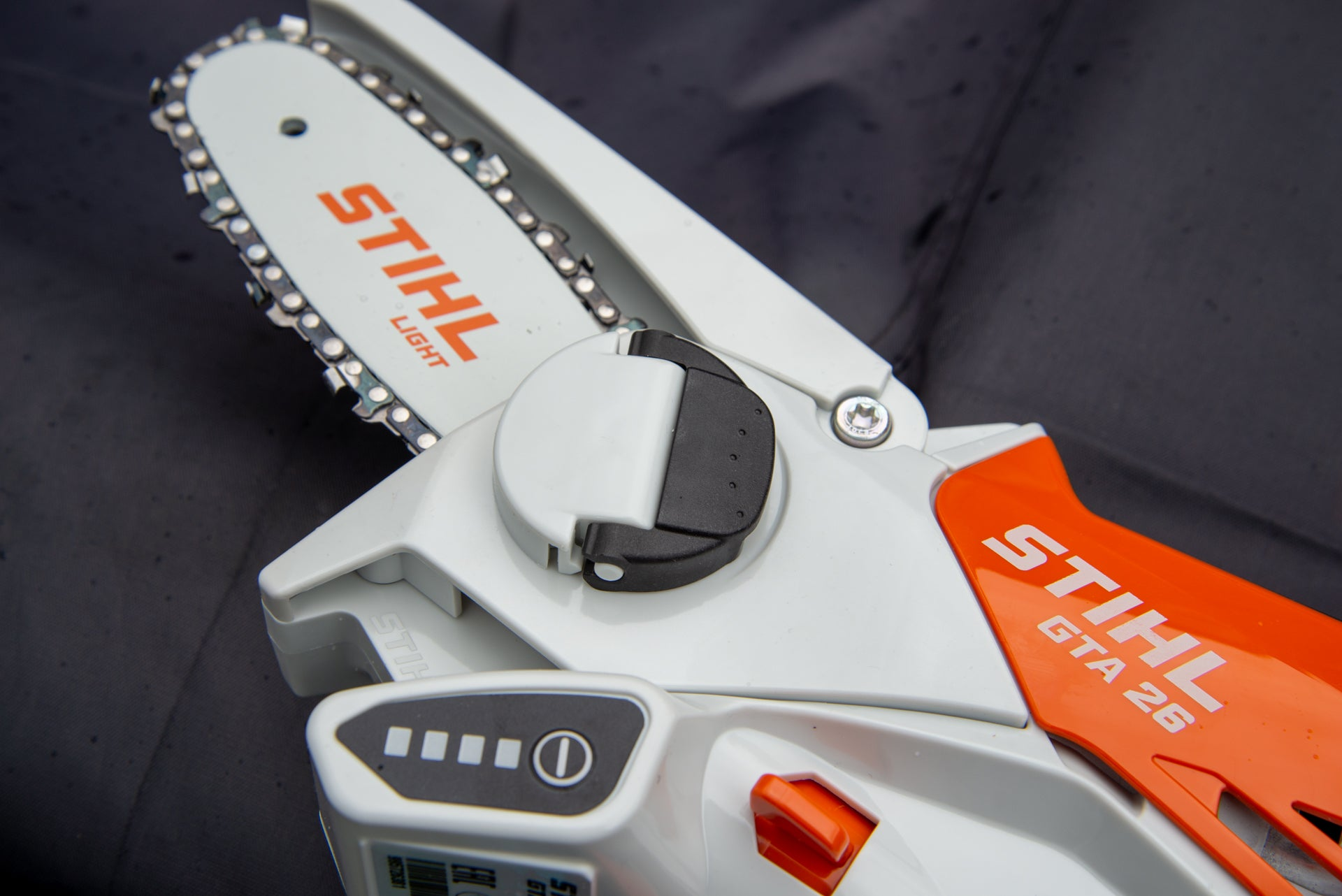 Stihl GTA 26 battery meter and sprocket cover