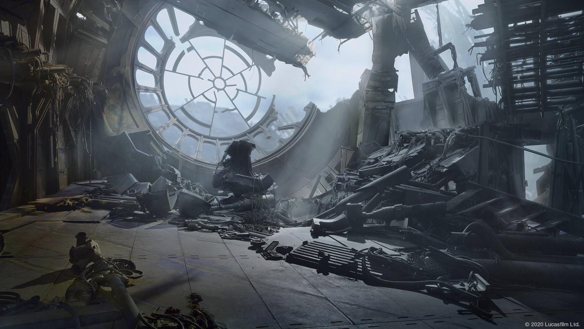 star wars zoom background death star ruins
