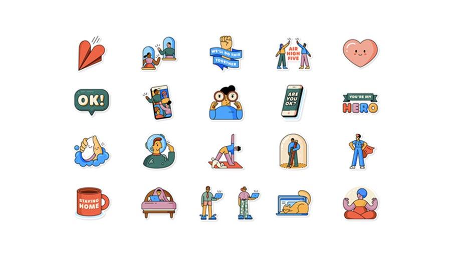 whatsapp coronavirus stickers