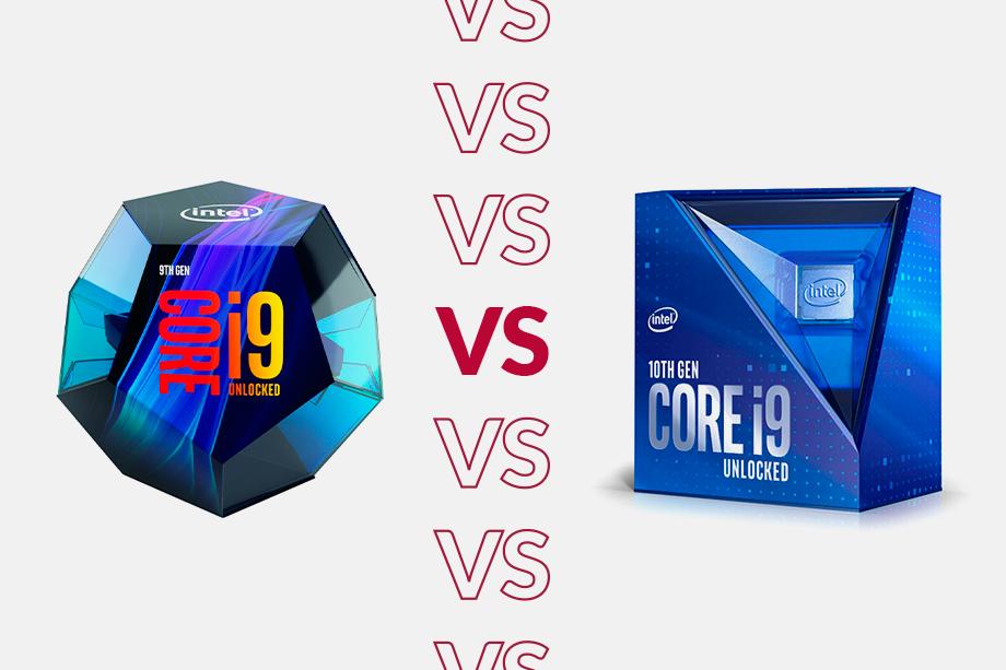 Intel Core i9-10900K vs i9-9900K