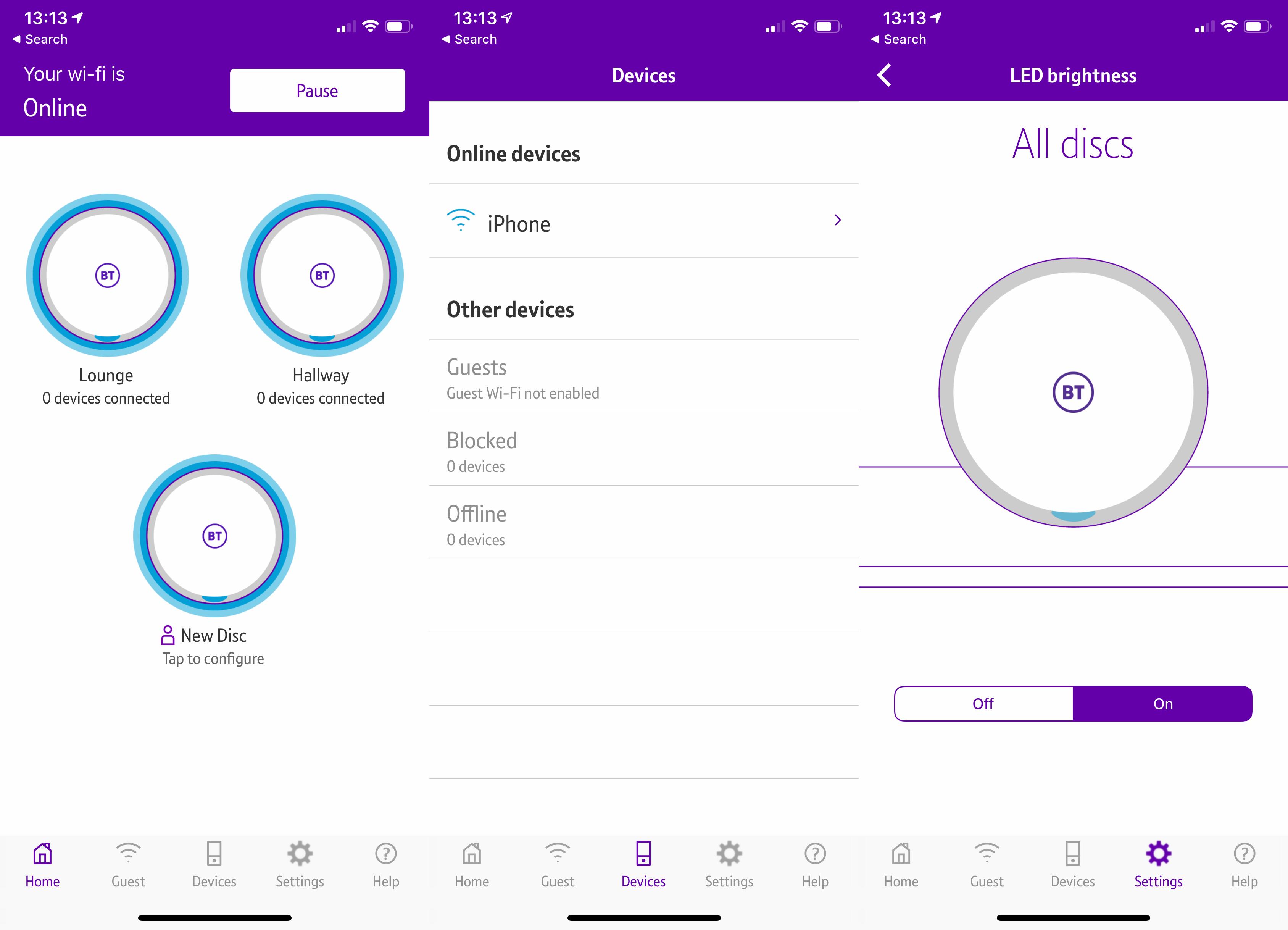 BT Mini Whole Home Wi-Fi app
