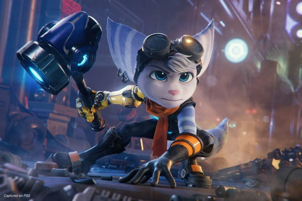 Ratchet and Clank - Rivet landing on the ground
