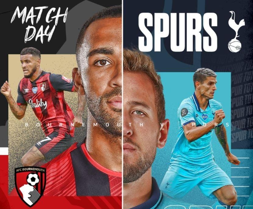 Bournemouth vs Tottenham - image via Tottenham Hotspur on Twitter
