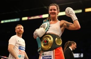Stars like WBC and WBO super featherweight champ, Terri Harper, are set to be included in the game. Image via Getty