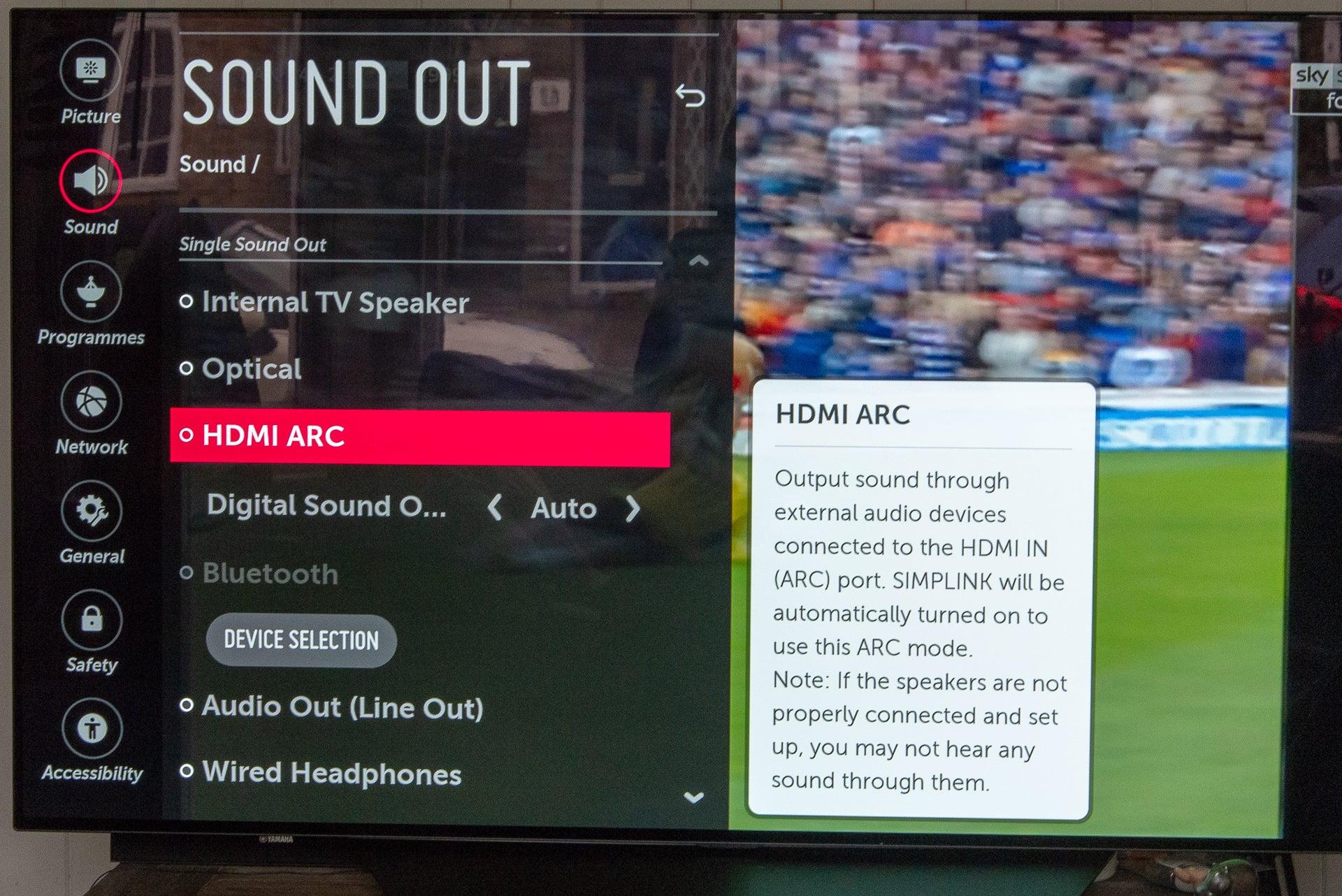 HDMI ARC enable