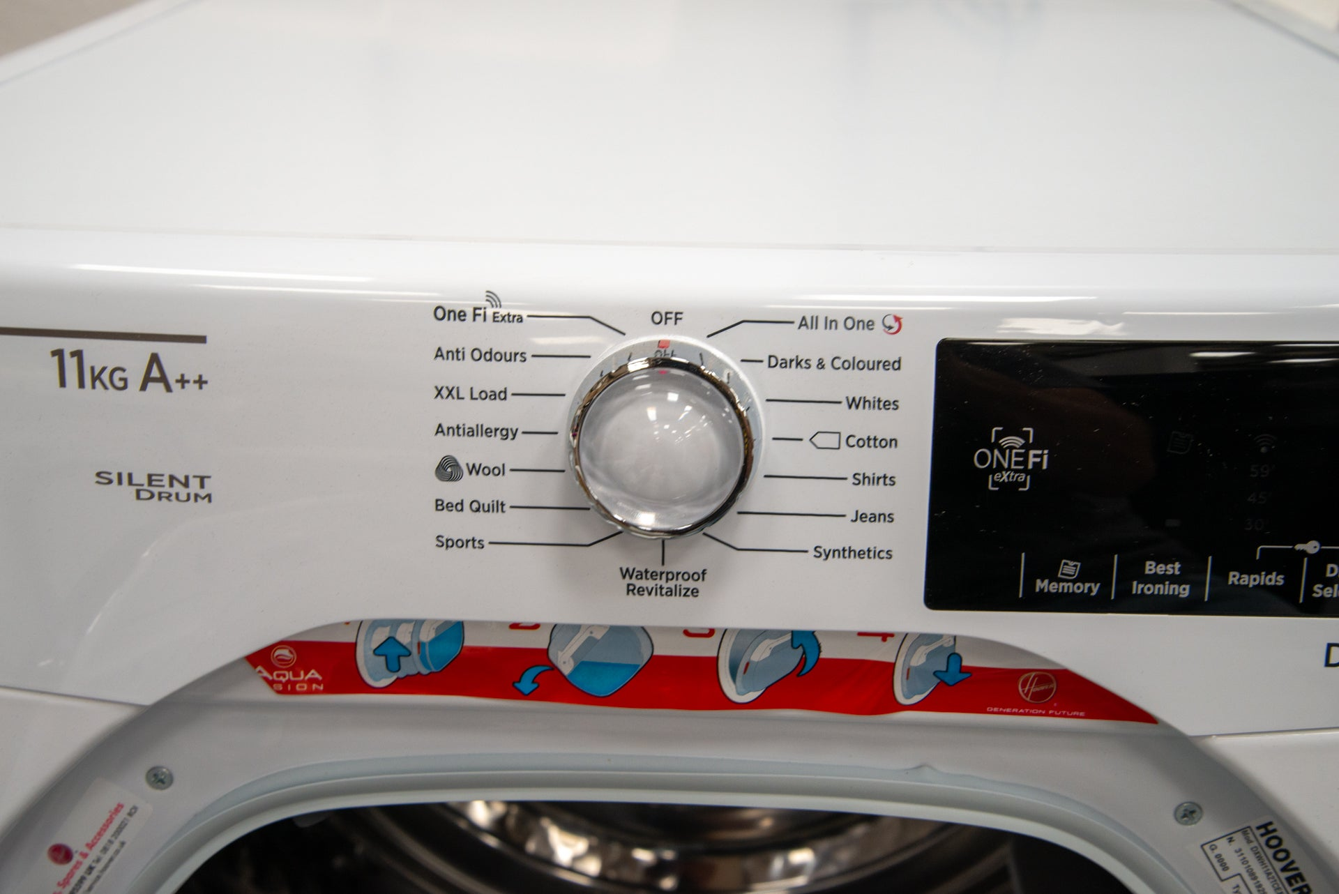 Hoover Dynamic Next DXWH11A2TCEXM-80 controls