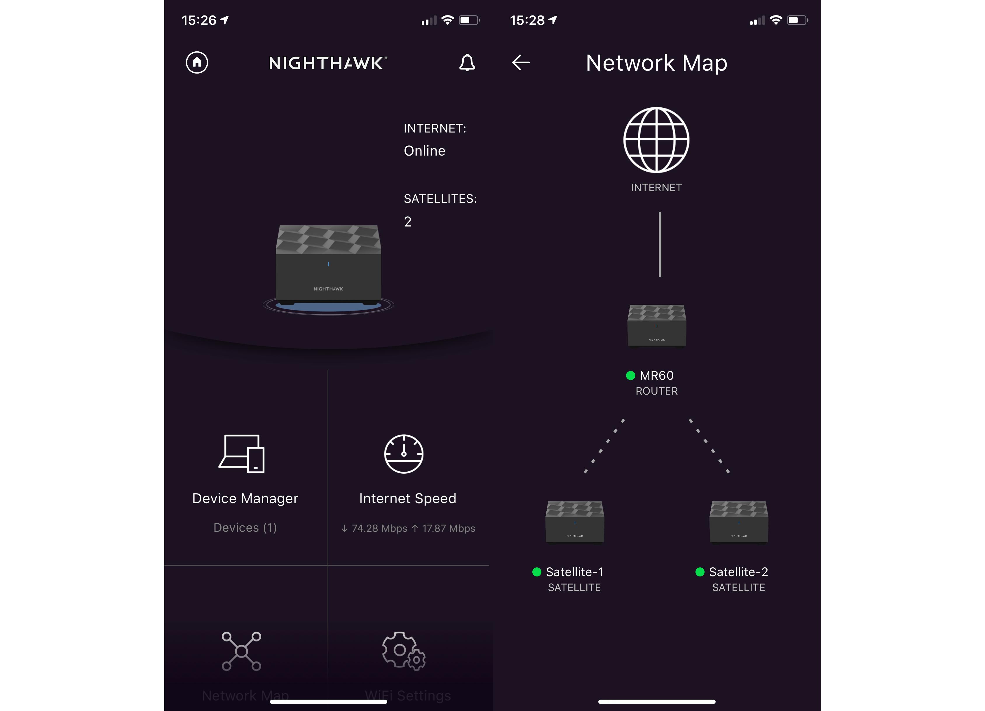 Netgear Nighthawk Mesh WiFi 6 System main interface