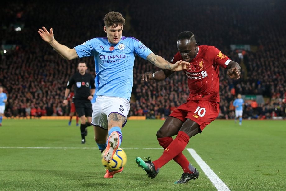 Man City vs Liverpool - image via getty