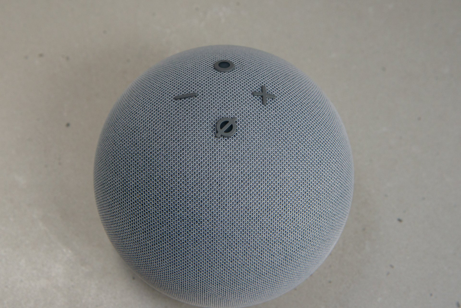 Amazon Echo Dot with Clock (4th Generation) controls