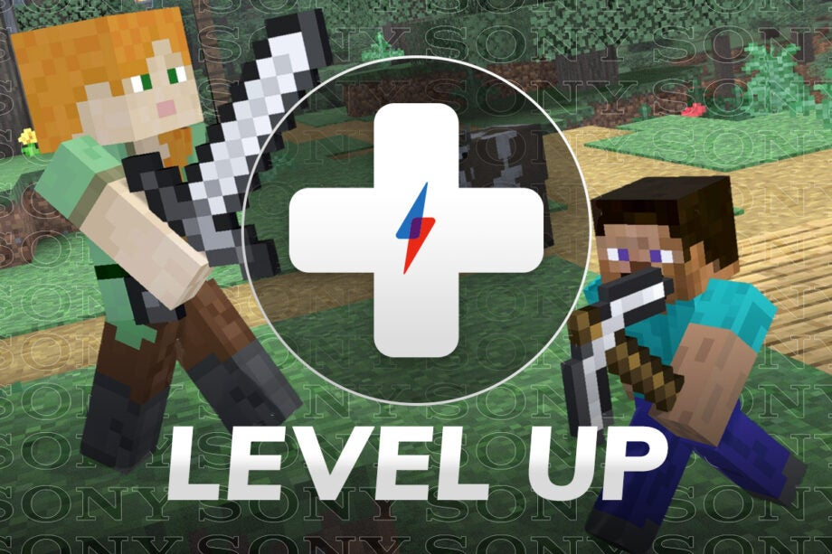 Level Up Minecraft Steve Super Smash