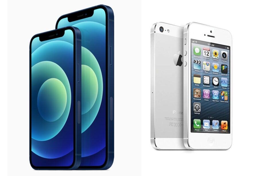 iPhone 12 vs iPhone 5