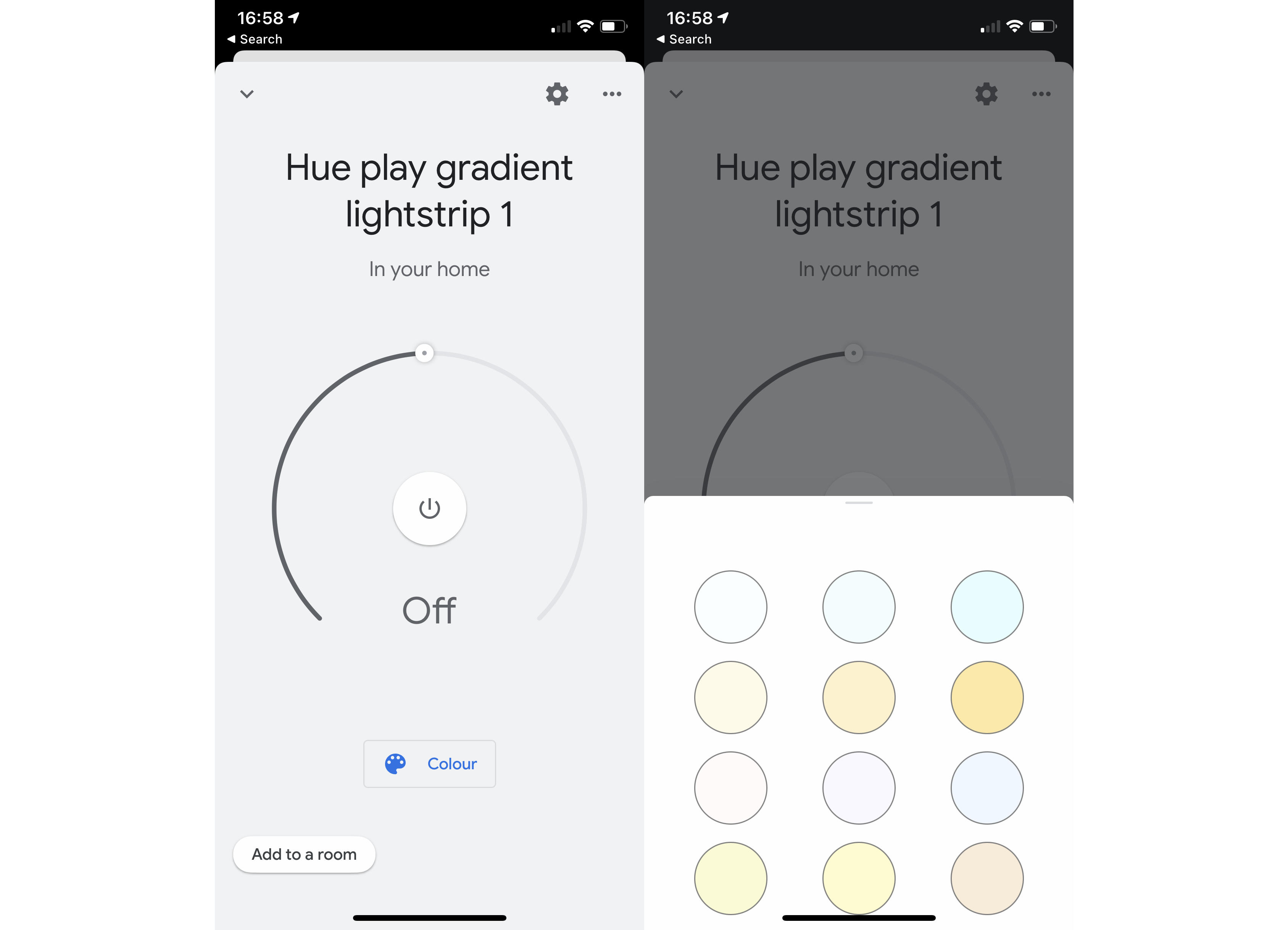 Philips Hue Play HDMI Sync Box Gradient in Google Home