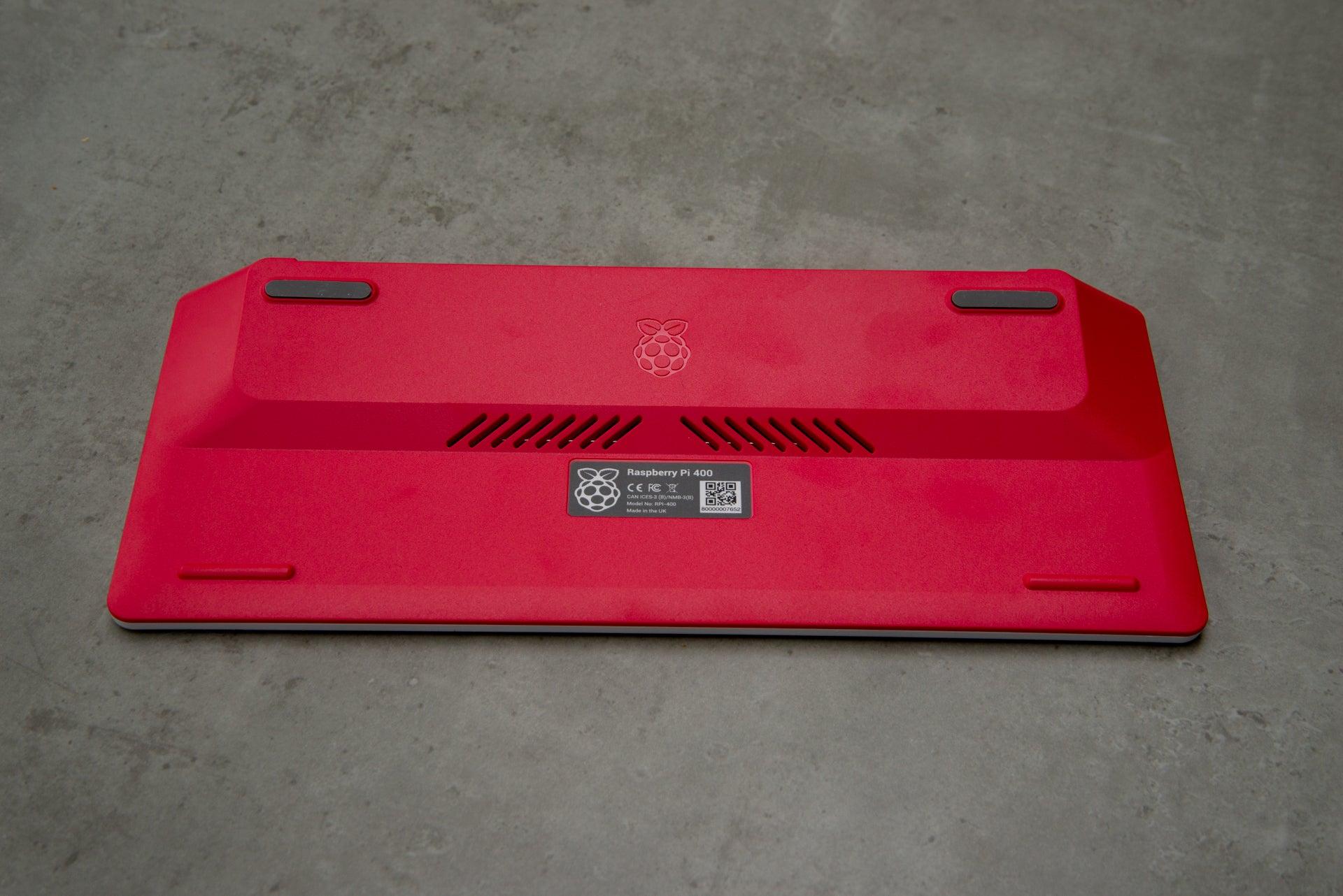 Raspberry Pi 400 underneath