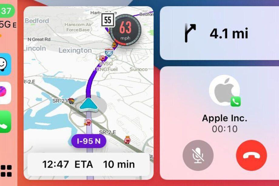 Waze CarPlay Dashboard