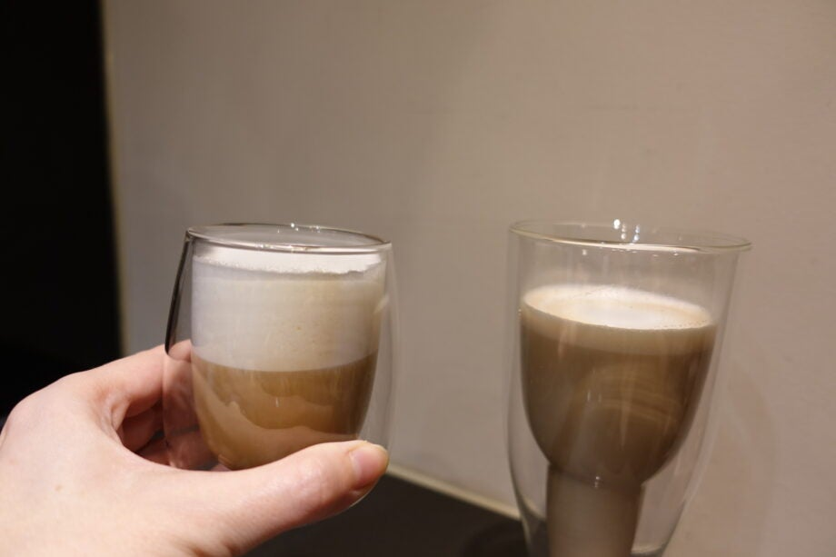 Steamed milk types