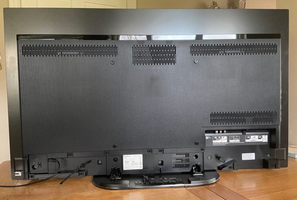Rear view of the Sony KD-48A9 TV.