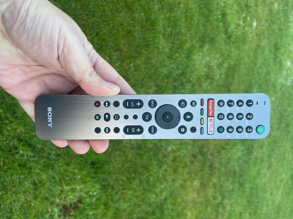The Sony 48A9's remote control.