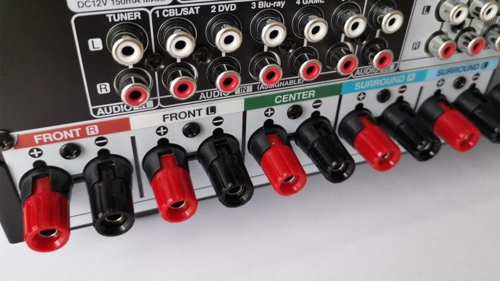 Denon AVC-X4700H speaker terminals