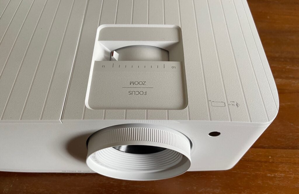 The Optoma UHD38 projector focus dial