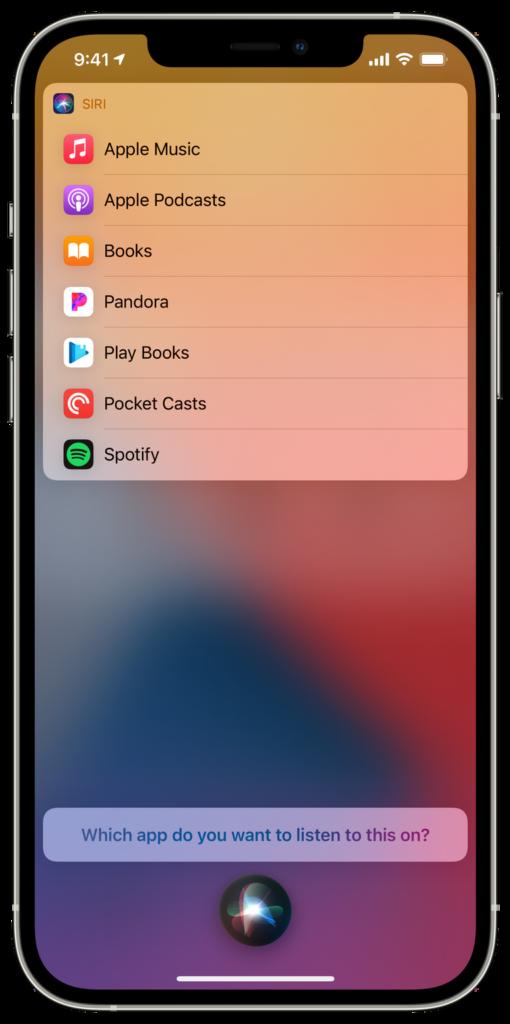 Apple-musiikin valinta siri