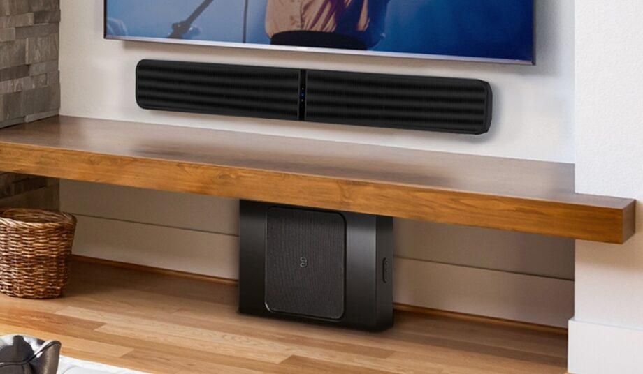 The Bluesound Pulse Soundbar+ in a home environment