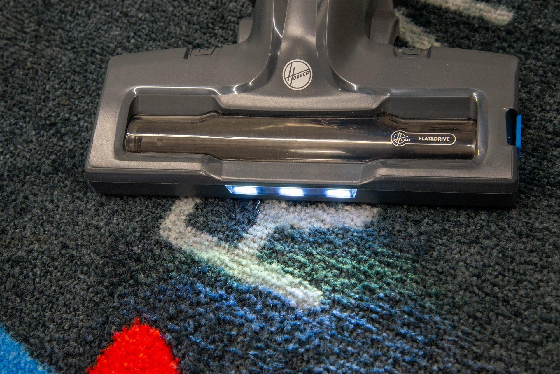 Hoover H-Free 300 LEDs on main floor brush