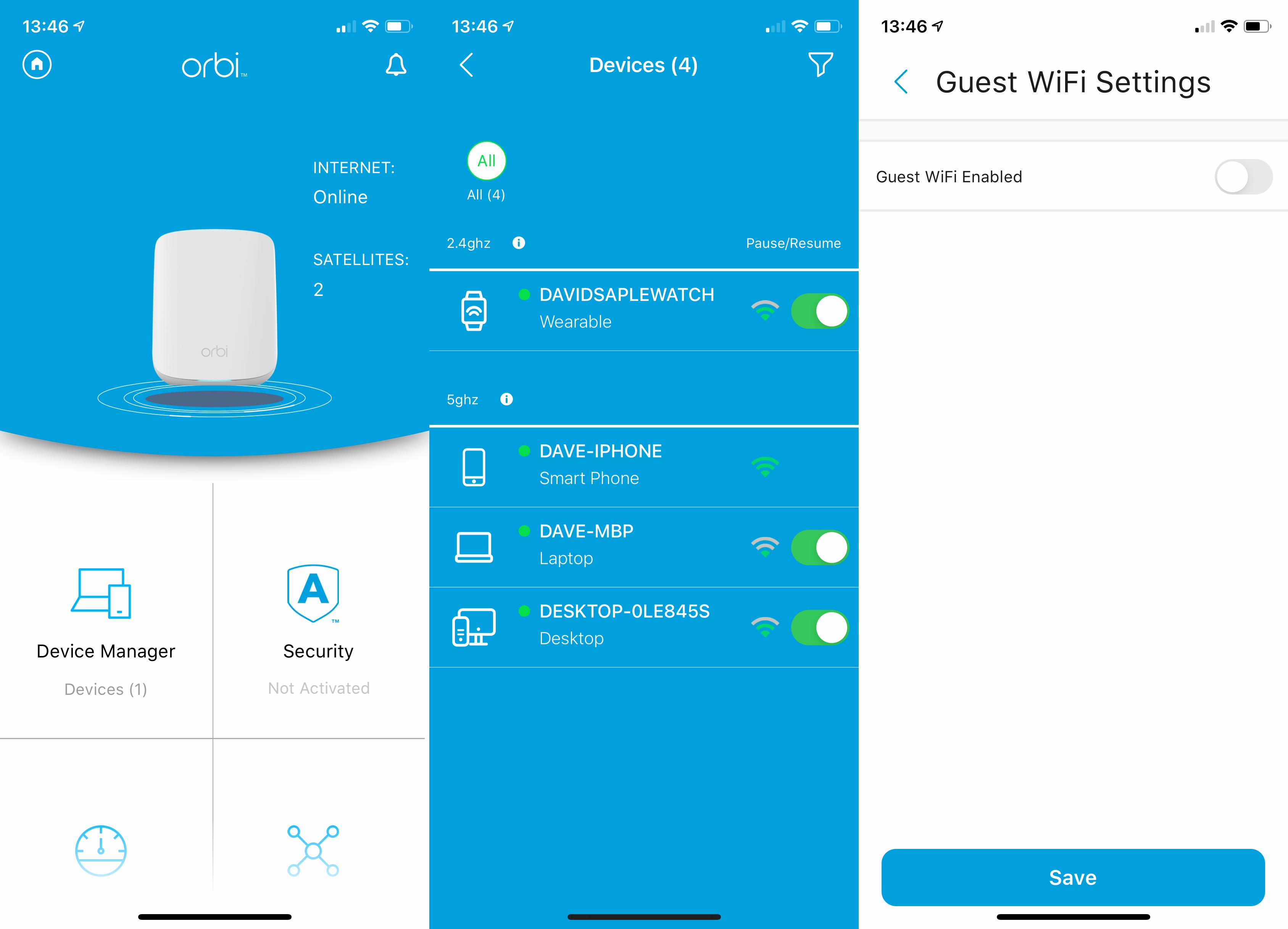 Netgear Orbi WiFi 6 Dual-band Mesh System (RBK353) app