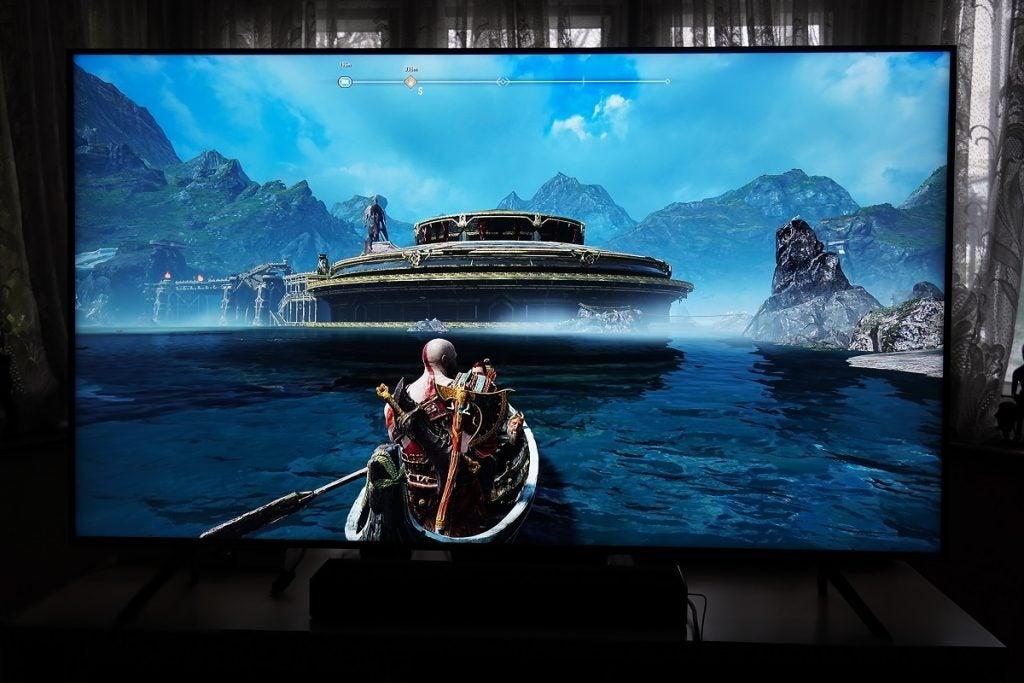 God of War on the Samsung Q65T / Q60T TV