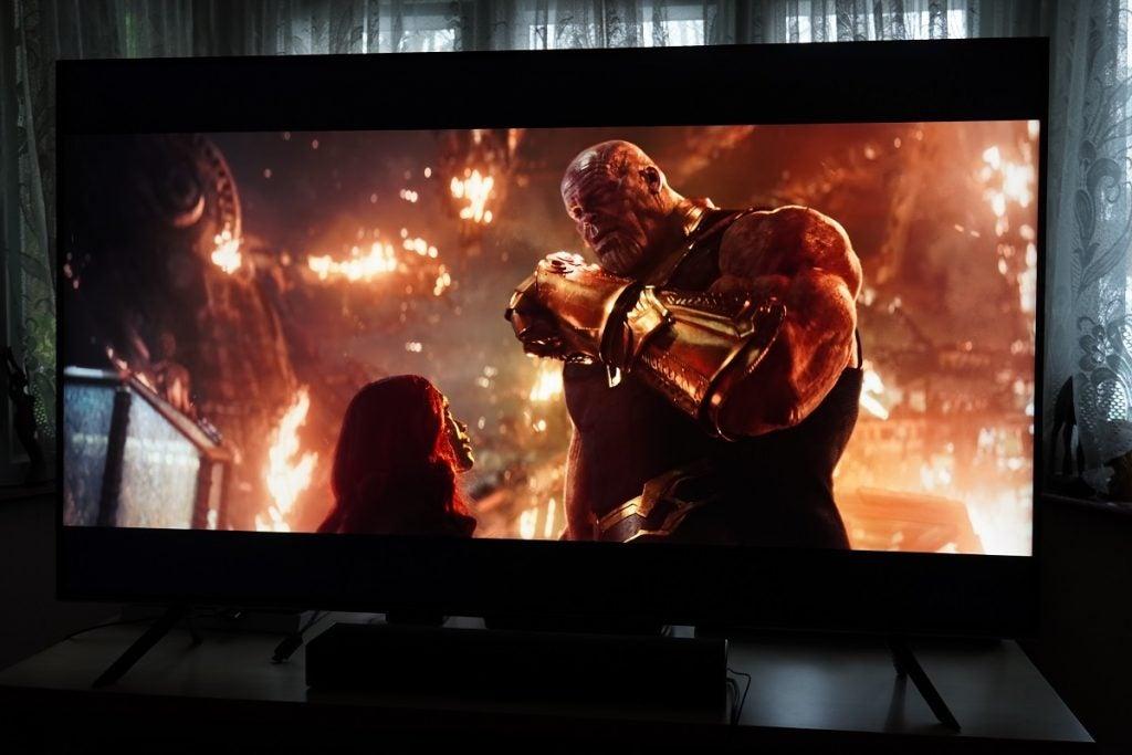 Avengers: Infinity War on the Samsung Q65T / Q60T TV