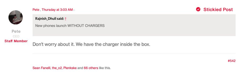 OnePlus 9 charger in box