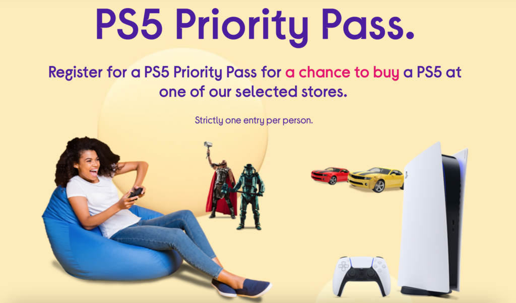 Currys PS5 Priority Pass