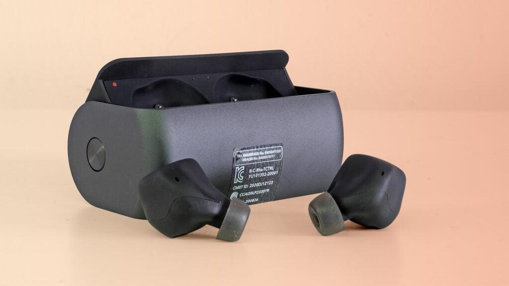 RHA TrueControl ANC with the charging box
